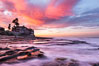 A fiery sunrise explodes over the La Jolla coastline. California, USA. Image #28871