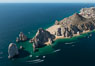 Aerial photograph of Land's End and the Arch, Cabo San Lucas, Mexico. Baja California. Image #28897