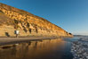 Torrey Pines cliffs at sunset. Torrey Pines State Reserve, San Diego, California, USA. Image #29107