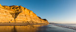 Torrey Pines cliffs at sunset. Torrey Pines State Reserve, San Diego, California, USA