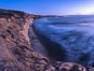 Torrey Pines cliffs at sunset. Torrey Pines State Reserve, San Diego, California, USA. Image #29111