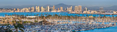 San Diego City Skyline viewed from Point Loma. California, USA. Image #29114