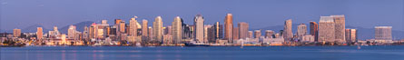 San Diego City Skyline viewed from Harbor Island. California, USA. Image #29119
