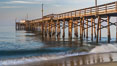 Balboa Pier, sunrise. Newport Beach, California, USA. Image #29137