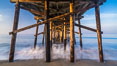 Balboa Pier, sunrise. Newport Beach, California, USA. Image #29139
