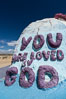 Salvation Mountain, the life work of Leonard Knight, near the town of Niland, California. Salvation Mountain, Niland, California, USA. Image #29212
