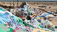 Salvation Mountain, the life work of Leonard Knight, near the town of Niland, California. Salvation Mountain, Niland, California, USA. Image #29213