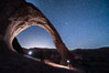 Stars over Corona Arch at Night, Moab, Utah. USA. Image #29242