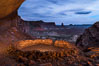 False Kiva at Sunset, Canyonlands National Park, Utah. USA. Image #29252