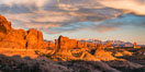 Sunset over Garden of the Gods, Arches National Park. Utah, USA. Image #29261