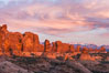 Sunset over Garden of the Gods, Arches National Park. Utah, USA