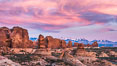 Sunset over Garden of the Gods, Arches National Park. Utah, USA. Image #29264