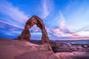 Delicate Arch at Sunset, Arches National Park. Utah, USA