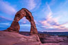 Delicate Arch at Sunset, Arches National Park. Delicate Arch, Arches National Park, Utah, USA. Image #29283