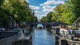 Amsterdam canals and quaint city scenery. Holland, Netherlands. Image #29432