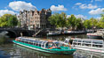 Amsterdam canals and quaint city scenery. Amsterdam, Holland, Netherlands. Image #29434