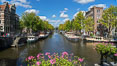 Amsterdam canals and quaint city scenery. Amsterdam, Holland, Netherlands. Image #29435