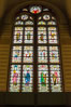 Stained glass in entrance hall, Rijksmuseum, Amsterdam. Rijksmuseum, Amsterdam, Holland, Netherlands. Image #29449