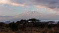Mount Kilimanjaro, Tanzania, viewed from Amboseli National Park, Kenya. Image #29540