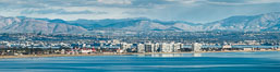 Hotel Del Coronado and Coronado Island City Skyline, viewed from Point Loma, panoramic photograph. San Diego, California, USA. Image #30202