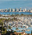 San Diego Bay and Skyline, viewed from Point Loma, panoramic photograph. California, USA. Image #30204