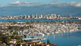 San Diego Bay and Skyline, viewed from Point Loma, panoramic photograph. California, USA. Image #30205