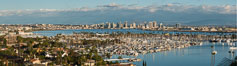 San Diego Bay and Skyline, viewed from Point Loma, panoramic photograph. California, USA. Image #30208