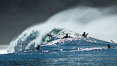 Surf and spray during Santa Ana offshore winds. San Diego, California, USA. Image #30461