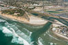 Aerial photo of San Dieguito Lagoon and Dog Beach.  San Dieguito Lagoon State Marine Conservation Area (SMCA) is a marine protected area near Del Mar in San Diego County. Del Mar, California, USA. Image #30604