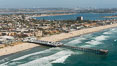 Aerial Photo of Crystal Pier and Pacific Beach. San Diego, California, USA. Image #30826