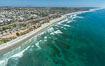 Aerial Photo of Cardiff State Beach and  Underwater Reef System. Encinitas, California, USA. Image #30834