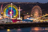 San Diego County Fair at night.  Del Mar Fair at dusk, San Dieguito Lagoon in foreground. Del Mar, California, USA. Image #31026