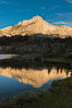 Greenstone Lake and North Peak, Hoover Wilderness, Sunrise. 20 Lakes Basin, California, USA. Image #31052