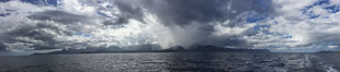 Panorama of Thunderstorm over Baja California, Mexico,  See from near Isla Partida in the Sea of Cortez. Image #31286