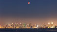 Supermoon Eclipse at Moonrise over San Diego, September 27 2015. Image #31868