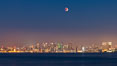 Supermoon Eclipse at Moonrise over San Diego, September 27 2015. Image #31874