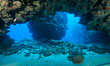Underwater cavern, Grand Cayman Island. Grand Cayman, Cayman Islands. Image #32204