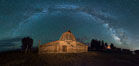 Milky Way over John Moulton Barn, Grand Teton National Park. Image #32304