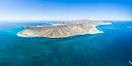 Isla Espiritu Santo, aerial photo, viewed from San Lorenzo Channel. Isla Espiritu Santo, Baja California, Mexico. Image #32364