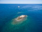 La Reina Lighthouse Reef, Sea of Cortez, aerial photo. Baja California, Mexico. Image #32372