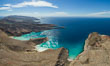 Ensenada Grande, Isla Partida, Sea of Cortez, aerial photo. Baja California, Mexico. Image #32445
