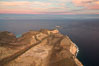 Isla Partida highlands at Sunrise, view toward Punta Maru and Los Islotes, Aerial Photo. Baja California, Mexico. Image #32453