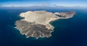 San Benedicto Island and Barcena crater, aerial photo, Revillagigedos Islands, Mexico. San Benedicto Island (Islas Revillagigedos), Baja California. Image #32914