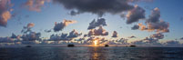 Sunrise over Clipperton Island, Panorama. Clipperton Island, France. Image #33103
