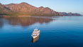 Boat Ambar, Sunrise, Sherry's Bay, Sea of Cortez. Baja California, Mexico. Image #33489