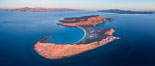 Sunrise over Isla San Francisquito, Aerial View, Sea of Cortez. Isla San Francisquito, Baja California, Mexico. Image #33662