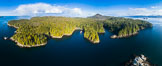 Hurst Island and Gods Pocket Provincial Park, aerial photo. Vancouver Island, British Columbia, Canada. Image #34464