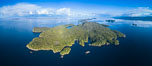 Hurst Island and Gods Pocket Provincial Park, aerial photo. Vancouver Island, British Columbia, Canada. Image #34481