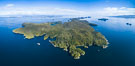 Hurst Island and Gods Pocket Provincial Park, aerial photo. Vancouver Island, British Columbia, Canada. Image #34484