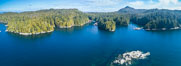 Hurst Island and Gods Pocket Provincial Park, aerial photo. Vancouver Island, British Columbia, Canada. Image #34486